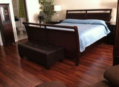 39 Ideas For Bedroom Ideas Dark Brown Chandeliers Black Wood Floors, Cherry Wood Floors, Wood Tile Floors, Wood Laminate Flooring, Flooring Ideas, Wood Parquet, Wood Bedroom, Small Room Bedroom, Gray Bedroom