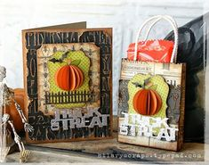 Trick or Treat Holiday Cards by Hilary Kanwischer