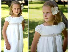 vestido comunion en lino