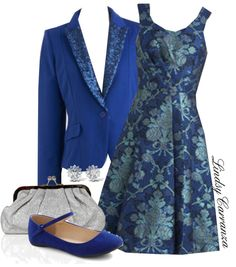 """Evening Blue"" by lindsycarranza on Polyvore"