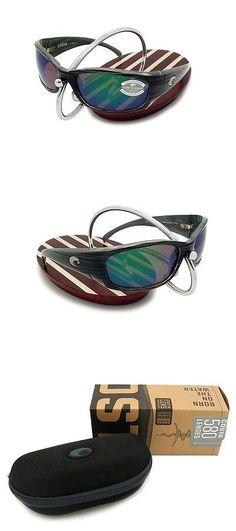 af36d0245a Sunglasses 151543  New Costa Del Mar Hammerhead Silver Teak 580 Green Mirror  Glass 580G -