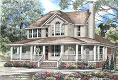 Country Style House Plans - 3435 Square Foot Home , 2 Story, 3 Bedroom and 3 Bath, 3 Garage Stalls by Monster House Plans - Plan 12-178