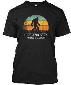 efb2c480 Hide And Seek World Champion T Shirt Black T-Shirt Front Champion