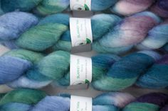 This is Twilight, one of my new colorways shown here in Bluefaced Leicester Wool roving