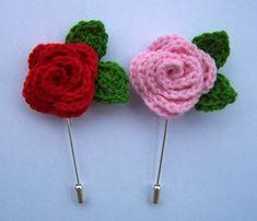 Per Sant Jordi roses de ganxet