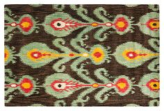 This would be so pretty layered on my jute rugs for our living room... Calder Rug, Charcoal/Jade Green on OneKingsLane.com