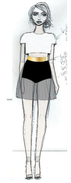 Progress of Adobe Illustrator Fashion Drawing