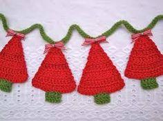 Resultado de imagen para arboles navideños a crochet