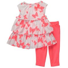2-Piece Leggings Set | Baby Girl Butterfly Cutie