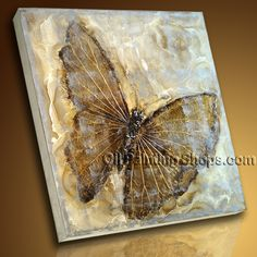 Modern Contemporary Abstract Wall Art Work Embossed Butterfly Textured Painting, 100% Handmade - Genuine High Quality Oil Painting, Ready to Hang by Bo Yi Art Studio
