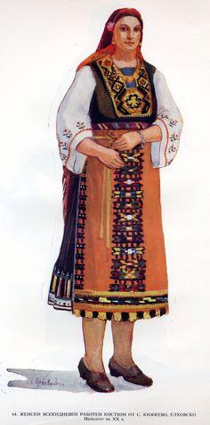 Folk Clothing, Folk Costume, Bulgarian, Folk Art, Greek Costumes, Kimono Top, Traditional, Embroidery, Clothes