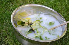 Imaginary Soup - Outdoor Sensory Pretend Play - One Perfect Day
