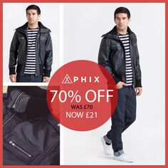 Today's Daily Fix: Save A Massive 70% On This High Collared Leather Jacket...    Just £21    http://www.phixclothing.com/mens-high-collared-leather-jacket-p-6028_1.html