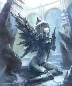"""""""ダークネス・エボルヴで追加された『封じられし熾天使』~『栄光のセラフラピス』の大きめサイズをUP。 Shadowverse 神撃のバハムート /Cygames"""""""