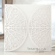 Gatsby Laser Cut Range  Laser cut wedding invitations perfect for your luxury wedding. DIY laser cuts are easy and elegant with options to insert your own printer inserts.