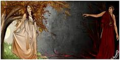 Persephone was the daughter of the goddess Demeter. She was depicted as everything pure and good. Yet, Hades wanted her to be Queen of the Underworld. One day, Hades took Persephone to the Underworld and held her as Hostage. She was miserable, she tried not to taste any of the fruit of the Underworld, but one day she did. This meant that she had to stay with Hades for at least part of the year.