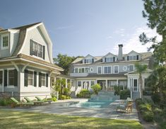 Shingle Style Beach Home with Guest House - traditional - exterior - charleston - Christopher A Rose AIA, ASID
