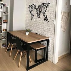 The latest trends, the newest styles, ah, this is what makes the world go around. Contemporary dining room sets can … Dining Table Lighting, Furniture Dining Table, Modern Dining Table, Wooden Furniture, Furniture Design, Furniture Legs, Barbie Furniture, Farmhouse Furniture, Small Space Furniture