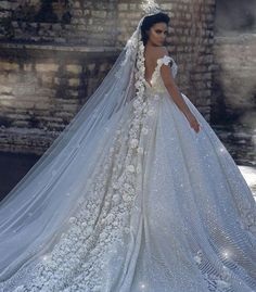 2019 Off Shoulder Lace Appliques Ball Gown Wedding Dresses Sequined Bridal Gowns Chapel Train Formal Church Arabic Dubai Luxurious Wedding Wedding. Princess Wedding Dresses, Dream Wedding Dresses, Bridal Dresses, Modest Dresses, Luxury Wedding, Wedding Bride, Gown Wedding, Maternity Wedding, Wedding Songs
