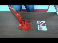 Ручной станок для гибки арматуры AFACAN Турция 14EC - YouTube
