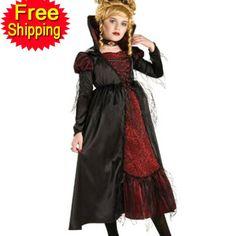 trajes de halloween para miúdos vitoriana vampiress meninas traje carnaval das crianças partido cosplay gótico feriado fantasia vestido