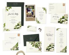 Flora Suite Sample Set  Vintage Botanical Wedding by HairpinPress, $8.00