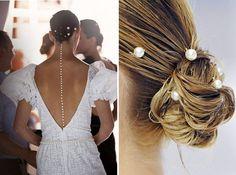 {mermaid pearl hairpins at chanel}