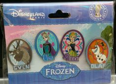 DISNEY DISNEYLAND PARIS EXCLUSIVE FROZEN PIN BOOSTER SET
