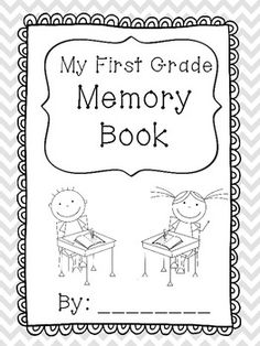 first grade memory book pages - First Grade Printable Books