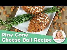 Pine Cone Cheese Ball Appetizer with Almonds. Fun, easy Thanksgiving or Christmas Party Appetizer for the holiday season. Christmas Appetizers, Christmas Desserts, Appetizers For Party, Appetizer Recipes, Christmas Christmas, Cheese Ball Recipes, Fresh Dill, Thanksgiving, Snacks