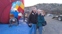 Hot air balloon in Verde Valley AZ.