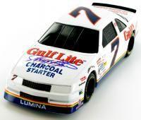 Harry Gant autographed #7 Gulf Lite Chevrolet Lumina 1/24th scale diecast.