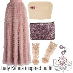 Lady Kenna inspired outfit/Reign by tvdsarahmichele on Polyvore featuring polyvore fashion style Rosie Assoulin Chicwish Giuseppe Zanotti Don't AsK Henri Bendel