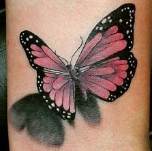 Image result for 3D tattoos  Angels and  butterflys