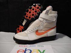 VTG OG DS 1987 Shark Leather Mesh Stove Hi Top SAMPLE Nike Football Cleats 12.5 #Nike #Cleats