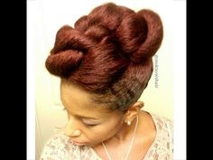 Twisted mohawk protective style.