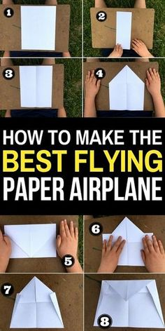 Paper airplanes are a ton of fun to make- but they are even more fun if they fly well! Try this paper airplane design- created by my 12 year old son, it is one of the best paper airplane designs for long flights and distance. Best Paper Airplane Design, Make A Paper Airplane, Airplane Kids, Airplane Crafts, Airplanes For Kids, Paper Aeroplane Making, Best Paper Plane, Airplane Activities, Indoor Activities For Kids