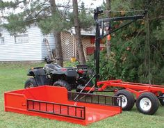"""New self-centering mechanism to make it easy for one person to align and place heavy logs on the loader The loader is equipped with a sturdy stabilizing leg (""""trailer jack"""") which can be operated b..."""