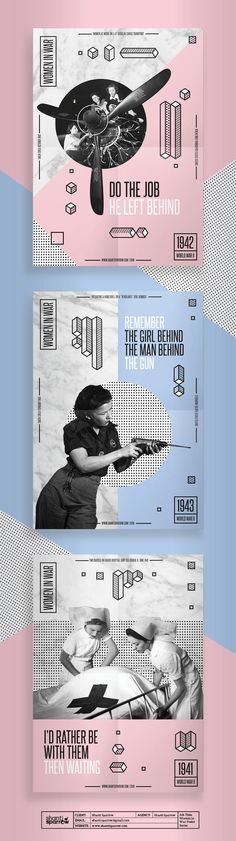 Vintage Graphic Design Shanti Sparrow has just been named number 27 of Women Doing Amazing Things in Graphic Design'. Shanti's engaging posters and brochures caught the eye of Canva and she's made the li… Collage Poster, Dm Poster, Poster Design, Poster Series, Poster Layout, Graphic Design Posters, Typography Design, Lettering, Text Layout