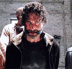 I love this gif. Even when he and his people are about to be killed and eaten, he has such fire and fight in his eyes. I know it's still there just gotta bide his time & wait for the right time to unleash crazy Rick.
