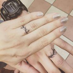 Wedding Ring Tattoos vine wedding band tattoo … - Various wedding band tattoos are there in the market like name initials tattoo, simple symbolic tattoo, matching band tattoos, heart band tattoos, ball Couples Ring Tattoos, Marriage Tattoos, Band Tattoos, Tattoos Skull, Couple Tattoos, Simple Couples Tattoos, Tatoos, Wedding Band Tattoo, Wedding Ring Bands