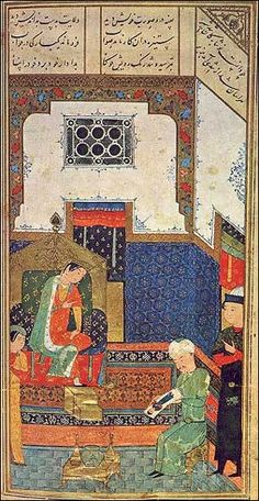 Iran: Iskandar-Nameh in the Hermitage's famous Persian manuscript of the Khamsa, an anthology of five poems by the 12th-century poet Nizami,