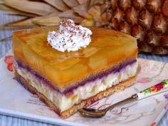 fotorecept nepečená ananásová torta (1) Brze Torte, Creme Caramel, Tiramisu, Tart, Pineapple, Pancakes, Cheesecake, Pie, Pudding