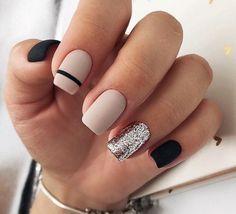 50 Elegant Nail Art Designs For Women 2019 – Page 31 of 50 – Chic Hostess – nails. Cute Acrylic Nails, Acrylic Nail Designs, Nail Art Designs, Nails Design, Stripe Nail Designs, Nail Design For Short Nails, White Nail Designs, Gel Designs, Salon Design