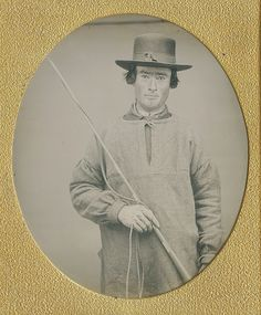 A Drover!,Sixth Plate Daguerreotype Circa 1850,Unknown Maker and Location