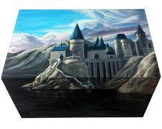 Harry Potter Hand Painted Box Hogwarts Wooden Jewelry box Keepsake Box storage Wizard World Magic Art Rowling Bithday fan gift CUSTOM ORDER