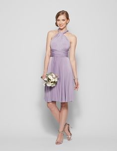 Henkaa lilac convertible bridesmaid gown perfect for a purple wedding palette.