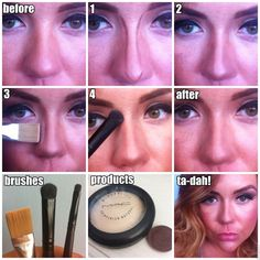 How to contour your nose to make it appear smaller or take any shape you wish! Click the picture to read my step by step instructions on how to create an undetectable contoured nose!