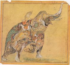Attributed to the Kotah Master, Rajasthan, Kotah, c. 1730  Black Ink and opaque watercolor over black chalk underdrawing on tan laid paper