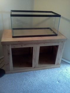 Aquarium stand using 2x4s & pallets